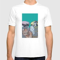 Four Cats Mens Fitted Tee White SMALL