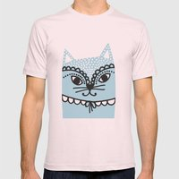 Katze #1 Mens Fitted Tee Light Pink SMALL