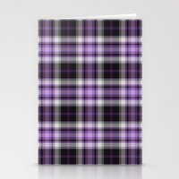 Purple Plaid Stationery Cards