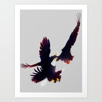 Fighting Falcon Art Print