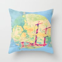Sail In The Set Throw Pillow