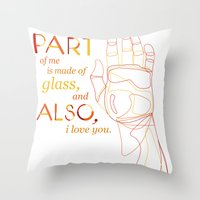 Made of Glass Throw Pillow
