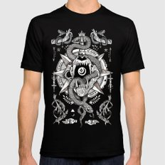 Ad Mortumn SMALL Mens Fitted Tee Black