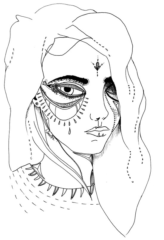 Teary Art Print
