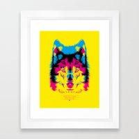 Wolf CMYK Framed Art Print
