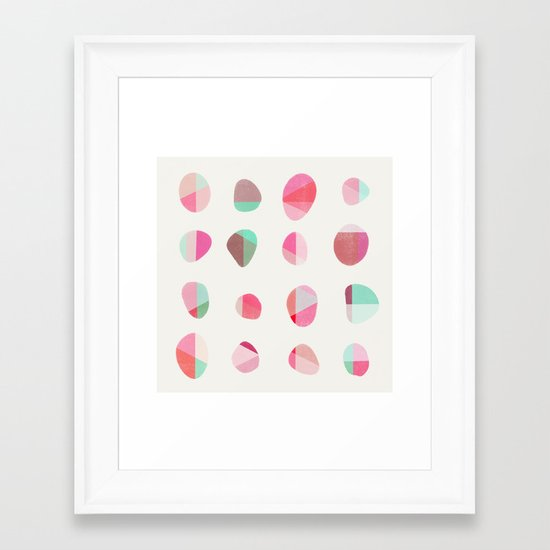 Painted Pebbles 6 Framed Art Print