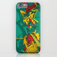 3d graffiti - Dystopian ink iPhone 6 Slim Case