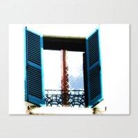 Window to the Present Canvas Print