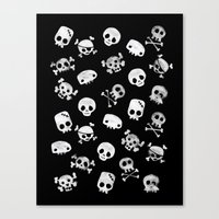 Cute Skull Canvas Print
