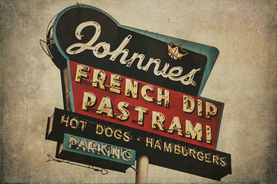 Johnnie's French Dip Pastrami Vintage/Retro Neon Sign Art Print