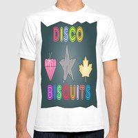 Disco Biscuits Mens Fitted Tee White SMALL
