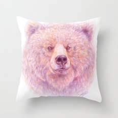 Katmai Bear Throw Pillow
