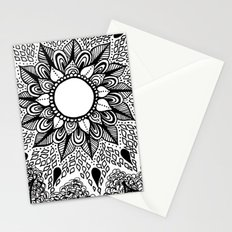Black and White Doodle 2 Stationery Cards