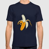 Banana Mens Fitted Tee Navy SMALL