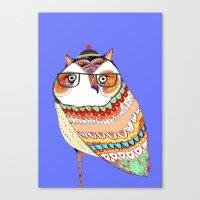 Owl, Owl Art, Owl Illust… Canvas Print