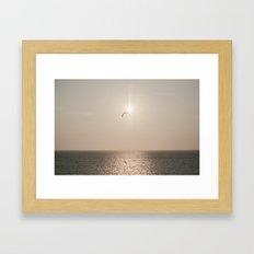 Sunset on the Sound 2 Framed Art Print