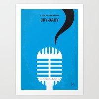No505 My Cry-Baby minimal movie poster Art Print