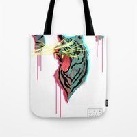 Tiger With F**king Lazer… Tote Bag
