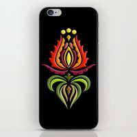 Fancy Mantle On Black iPhone & iPod Skin