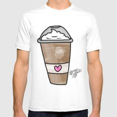 frappe Mens Fitted Tee SMALL White