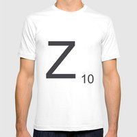 Scrabble Z Mens Fitted Tee White SMALL