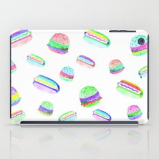 Colorful Hot-Dog and Burger Pattern iPad Case