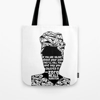 ZNH - If You Are Silent - Black Lives Matter - Series - Black Voices Tote Bag