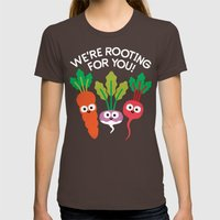 Motivegetable Speakers Womens Fitted Tee Brown SMALL