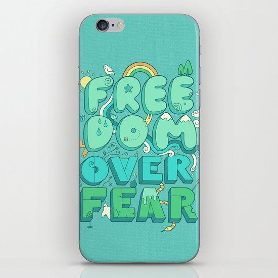 Freedom Over Fear iPhone & iPod Skin