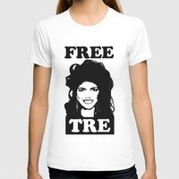 FREE TRE Womens Fitted Tee White SMALL