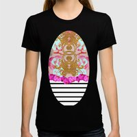 Fashion Girly Pink Vinta… Womens Fitted Tee Black SMALL