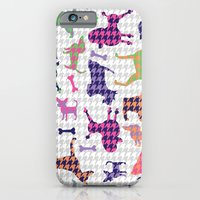 iPhone & iPod Case featuring Houndstooth Hounds by AllisonBeilke
