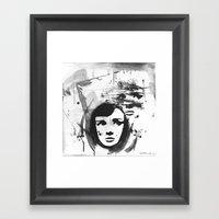 Audrey On A Stencil Framed Art Print