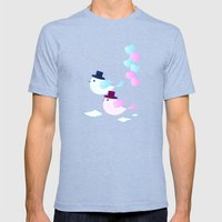 Happy Together  Mens Fitted Tee Tri-Blue SMALL