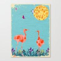 Flamingo Park Canvas Print