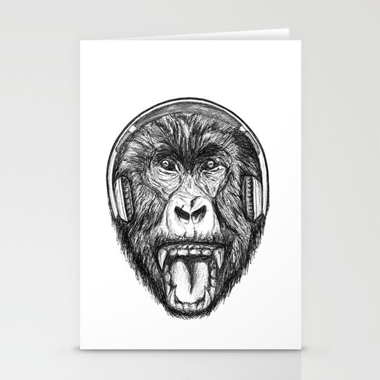 Scream And Shout Stationery Card
