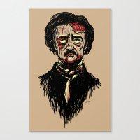 Edgar Allan Poe Zombie Canvas Print