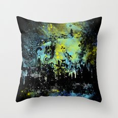 floral city gardener Throw Pillow