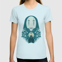 Spirited Womens Fitted Tee Light Blue SMALL
