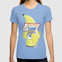 There's Always Money In … Womens Fitted Tee Tri-Blue SMALL