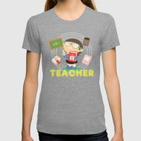 Teacher Womens Fitted Tee Tri-Grey SMALL