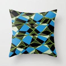 Retro web pattern Throw Pillow