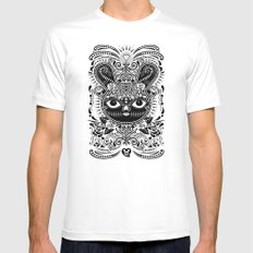 Day Of The Dead Bunny Celebration Mens Fitted Tee SMALL White