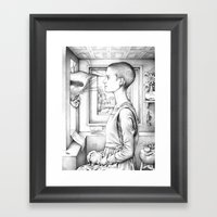 Portrait Of A Woman With… Framed Art Print