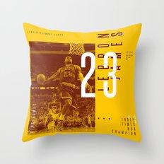 KING JAMES Throw Pillow