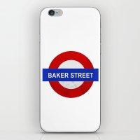 Sherlock Baker Street Print iPhone & iPod Skin
