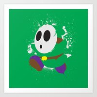 Green Shy Guy Splattery … Art Print