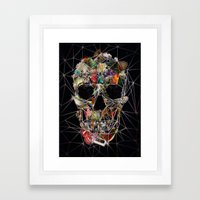Fragile Skull Framed Art Print