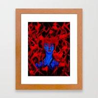 Blue Warrior Framed Art Print