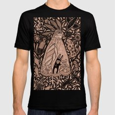 Dangers in the Forest SMALL Mens Fitted Tee Black